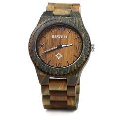 Bewell ZS - W065A Wood Men Watches Roman – iWatchTime