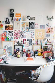 Espacio de trabajo personalizado y colorido