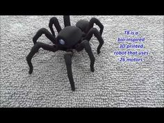 T8 the Bio Inspired 3D Printed Spider Octopod Robot - YouTube