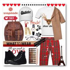 """""""Snapmade"""" by kengy-x ❤ liked on Polyvore featuring Brewster Home Fashions and Converse"""
