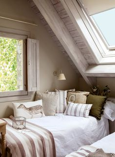 Marvelous Useful Ideas: Attic Design Office attic design office.Attic Bedroom Aesthetic old attic remodel. Decor, Room, Cozy Bedroom, House, Interior, Home, Remodel, Attic Renovation, Bedroom Design