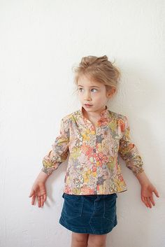 girls blouse, no tutorial, I'd like to find a pattern or tutorial for something like this