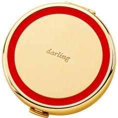 kate spade new york Holly Drive Compact - Darling (Red) (£33) ❤ liked on Polyvore featuring beauty products, beauty accessories, beauty, accessories, makeup, red and kate spade
