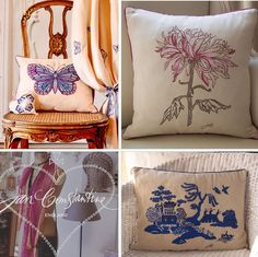 Kussens - Jan Constantine Embroidered Collection Perfect Pillow, Soft Furnishings, Throw Pillows, This Or That Questions, Bed, Interior, Napkins, Inspiration, Collection