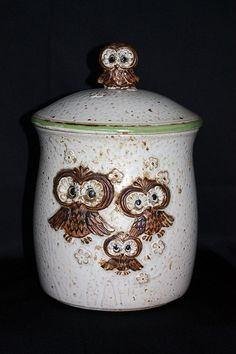 If I ever find this vintage owl cookie jar at a thrift store or flea market, I'll be the happiest girl alive. Owl Cookies, Cute Cookies, Cookies Et Biscuits, Owl Cookie Jars, Cookie Cutters, Owl Kitchen, Yard Sale Finds, Owl Ornament, Owl Crafts