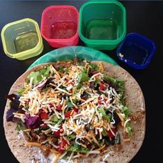 """""""We love this healthy taco with ground turkey and all the fixings! Congrats to today's #StrongForSummer winner @angandbrenn (1 Yellow, 1 Red, 1 Green, 1 Blue)"""" Photo taken by @21dayfix on Instagram, pinned via the InstaPin iOS App! http://www.instapinapp.com (06/05/2015)"""