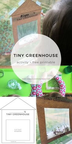 Tiny Greenhouse Activity & Free Printable! What a fun way for kids to learn about seeds and plants this spring