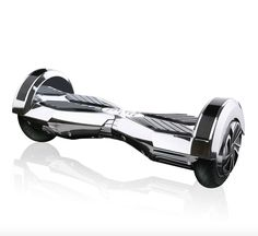 Chrome hoverboard silver