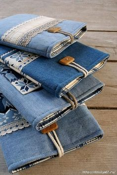 Cool denim notebook cover