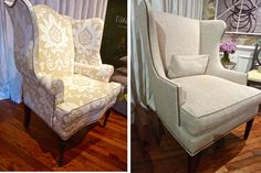 Love the updated wing chairs