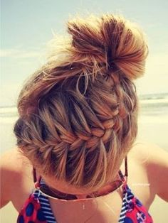 Top off your favorite summer fashion with easy summer hairstyles. This is great for trapping my daughters constant fly-away shorter pieces!