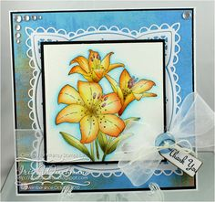 Tiger Lily - Moma Designs Whimsy Stamps  Paper Crafting in Cocoa