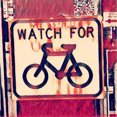 From Sydney watch for bikes #sign upgraded with #prisma #halloween filter. Accurate now :)