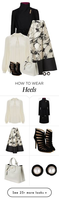 """""""chic"""" by divacrafts on Polyvore featuring Ted Baker, L.K.Bennett, Temperley London, Prada and Original"""