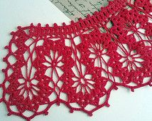 Brugge tongues collar Brugge lace Crochet Handmade Vintage Womens lace collar dress gift for her Steampunk collar perfect condition MyWealth