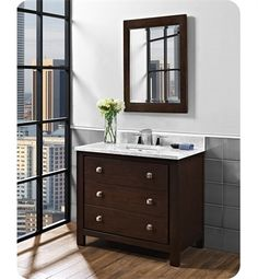 Images On Basement Bath Vanity Fairmont Designs V Uptown Contemporary Vanity in Espresso