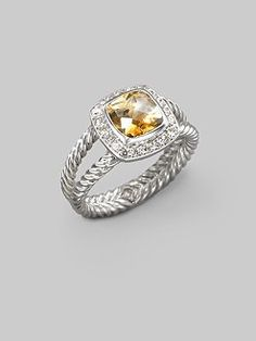 Definitely on the birthday list (hope you see this pin MOM)/David Yurman - Citrine, Diamond & Sterling Silver Ring