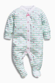 08fe7b6504e Buy Bright Pink White All-Over Print Flamingo Sleepsuits Three Pack (0mths-