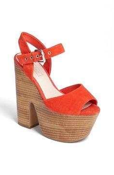 Funky fresh. | Topshop 'Lassie' Platform Sandal