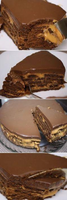"""TORTA DE CHOCOLATE CON DULCE DE LECHE (Postre de Pascua) """" By Cozinhando com Sussa Rodrigues.  #torta #chocolate #dulcedeleche #pascua #postre #receta #recipe #casero #torta #tartas #pastel #nestlecocina #bizcocho #bizcochuelo #tasty #cocina #cheesecake #helados #gelatina #gelato #budin #pudin #flanes #pan #masa #panfrances #panes #panettone #pantone #panetone #navidad #chocolate   Si te gusta dinos HOLA y dale a Me Gusta MIREN... Torta Chocolate, Love Chocolate, Latin Food, Diy Food, Delicious Desserts, Cupcake Cakes, Cake Recipes, Delish, Sweet Treats"""