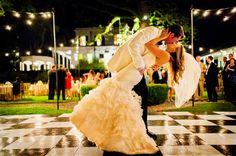 black and white dance floor | Chrisman Studios #wedding