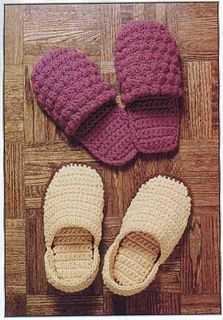 Great crochet bobble stitch slippers! Free pattern