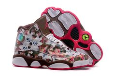 Buy Girls Air Jordan 13 GS \u201cFloral\u201d White Brown Red Womens For Sale New  Arrival from Reliable Girls Air Jordan 13 GS \u201cFloral\u201d White Brown Red  Womens For ...