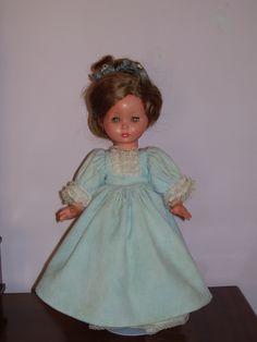 "37 cm. FURGA ""Carola""  doll, voice box still working, original tagged clothes. Mine."