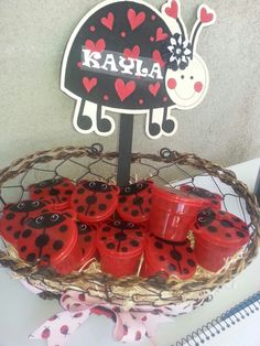 Ladybug Party dollar store containers!