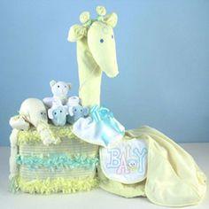 """""""Joyful Giraffe"""" Diaper Piñata Gift"""