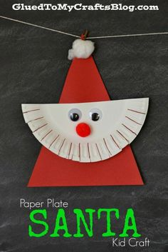 Paper Plate Santa {Kid Craft} - the perfect craft to do with your child this holiday season! Preschool Christmas Crafts, Santa Crafts, Christmas Crafts For Kids To Make, Daycare Crafts, Christmas Activities, Toddler Crafts, Christmas Projects, Christmas Themes, Kids Christmas