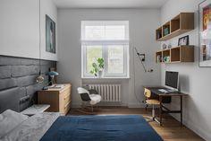 〚 Scandinavian apartment in Moscow 〛 ◾ Photos ◾Ideas◾ Design Home Office Design, House Design, Vintage Bookshelf, Room Interior, Interior Design, Scandinavian Apartment, Desk Areas, Modern Spaces, Vintage Design