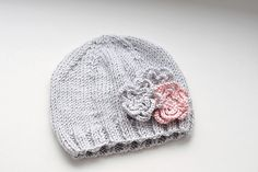 Premie baby hat for charity knitting.