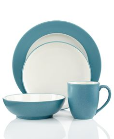 Noritake Colorwave Turquoise Collection - Fine China from Macy's
