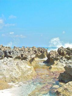 Surfers Beach Baths #Eleuthera #Bahamas