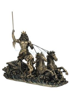 Poseidon-On-Hippocampus-Chariot-Sculpture-Greek-God-of-the-Sea-Nautical-Statue