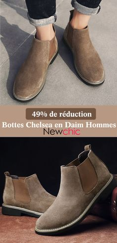 Men Suede Elastic Band Slip On Soft Slip Resistant Chelsea Boots is  fashionable 1b81680a4e3
