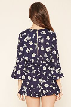 Contemporary Floral Romper | Forever 21 - 2000176543