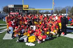 Pittsburgh State, in SE Kansas, won the NCAA Division II Football Championship in December 2011, by a score of 35-21.  Go Gorillas!