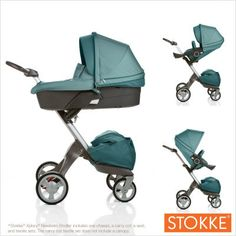 Stokke Xplory stroller. Bugaboo shmugaboo. I'll take a Stokke stroller any day! Bummer they don't make it in orange anymore.