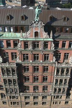 Fassade des Globushofes,Hamburg-Altstadt