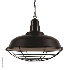 Cobal Powder Coated Industrial Pendant, by Ireland's Mullan. #blackpendantlight
