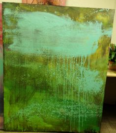 """Green with envy"" Acrylic in canvas by artist Karen Salem $499"