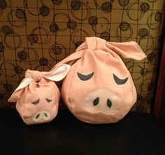 Wind Waker Zelda inspired pig pouch by CafeLefeCreations on Etsy