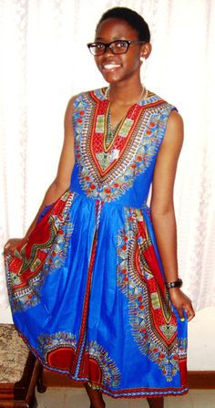 Bright Coloured African Print
