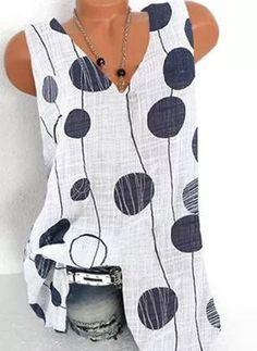 Airydress - Ofertas en Línea de Ropa Barata Para Mujeres A La Moda Womens Fashion Online, Latest Fashion For Women, Latest Fashion Trends, Looks Plus Size, Polka Dot Blouse, Blouse Online, Blouse Styles, Sleeveless Blouse, Tank Tops