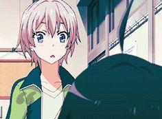 Hachiman Hikkigaya •Saika Totsuka •gif • Yahari ore no seishun love come wa machigatteiru •Oregairu • I ship them so much!!
