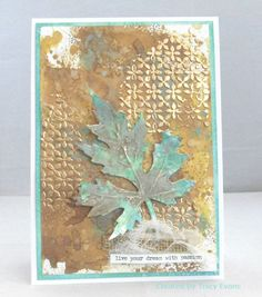 I have been playing around with the new Distress Oxides once again today to create a card.    I used Distress Oxides Vintage Photo, Fossiliz...