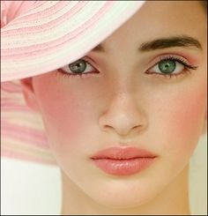 Green Eyes With Beautiful Make Up.