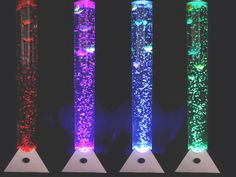 COLOUR CHANGING LED SENSORY MOOD BUBBLE 5 FISH WATER TOWER TUBE FLOOR LAMP LIGHT in Home, Furniture & DIY, Lighting, Lamps | eBay! Bubble Fish, Bubble Wall, Mood Light, Lamp Light, Fish Lamp, Salt Rock Lamp, Water Tube, Sensory Rooms, Led Desk Lamp